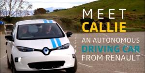 Renault, Sürücüsüz Arabası Callie ile Şov Yaptı