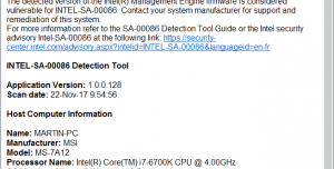 Intel-SA-00086 Detection Tool