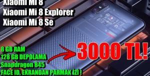 Xiaomi Mi 8, Mi 8 Explorer ve Mi 8 Se Piyasayı Bombalamaya Geliyor!