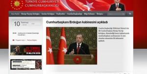 Yeni Sistemle Birlikte Başbakanlık Resmi Sitesi Kaldırıldı