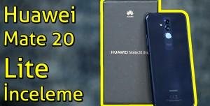 Huawei Mate 20 Lite inceleme - Müdür Yardımcısı Gibi Telefon!