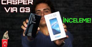 """Casper Via G3 İnceleme - 1599 TL, Yapay Zeka, 6.2"""" Ekran!"""