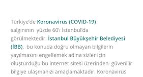 İBB Koronavirüs