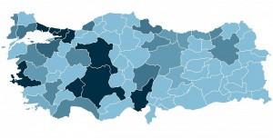 Bölge Bölge Türkiye Koronavirüs Haritası Yayınlandı!