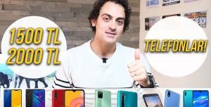 1500-2000 TL Arasında Alınabilecek Akıllı Telefonlar! (Aralık 2020)