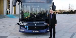 Yerli Sürücüsüz Elektrikli Otobüs Tanıtıldı!