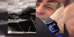 Kırılan Buzun İçine Düşen Adamı Apple Watch Kurtardı