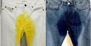 Bir Şirket Sahte Çiş Lekeli Pantolon Üretti