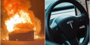 Tesla Model S Plaid Alevler İçinde: Sürücü Az Kalsın Yanıyordu