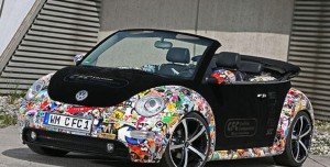 2011 VW New Beetle Convertible'a Etiket Modifiyesi