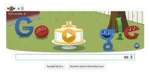 Google 15'inci Doğum Gününü Özel Bir Doodle ile Kutluyor