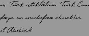 Atatürk El Yazısı Fontu