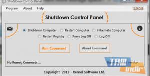 Shutdown Control Panel