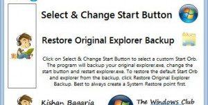 Windows 7 Start Button Changer