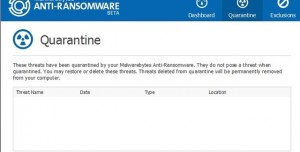 Malwarebytes Anti-Ransomware Beta