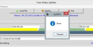 Free Video Splitter
