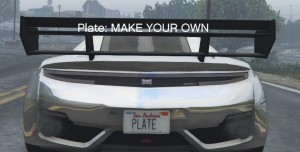 GTA 5 Customize Plate Mod
