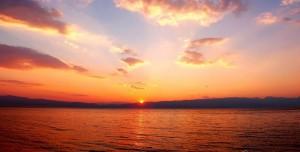 Ohrid Gölü Günbatımları Teması