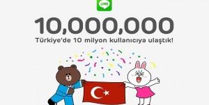 LINE, Türkiye'de 10 Milyon Kayıtlı Kullanıcıya Ulaştı
