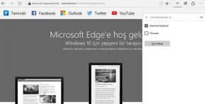Microsoft Edge Tarayıcıda Yer İmlerini Yedekleme ve Geri Yükleme