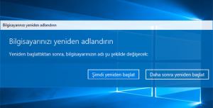 Windows 10 PC Adı Değiştirme