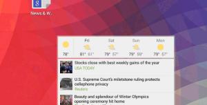 Google Haberler ve Hava Durumu