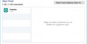 iCloud Denetim Masası
