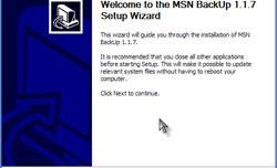 MSN Backup 1.17