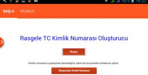 Rastgele TC Kimlik No Oluştur