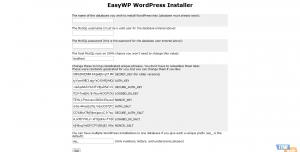 EasyWP WordPress Installer