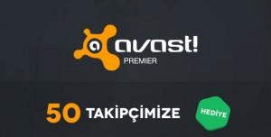 50 Takipçimize Avast! Premier Antivirüs Lisansı Hediye