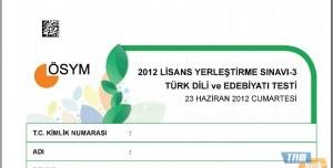 2012 LYS-3 Türk Dili ve Edebiyatı Testi Soruları ve Cevapları
