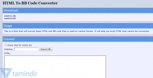 HTML To BB Code Converter