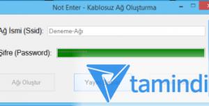Not Enter - Kablosuz Ağ Kur