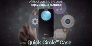 LG G3 Ekranı Engellemeyen Quick Circle Kılıfla Birlikte Geliyor