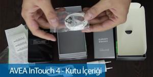 AVEA Intouch 4 İncelemesi - Kutu İçeriği