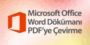 Office Word Dökümanı PDF Olarak Kaydetme