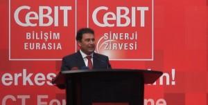 Kuzey Kıbrıs Türk Cumhuriyeti Bayındırlık ve Ulaştırma Bakanı Hamza Ersan Saner Bilişim Üzerine Konuştu - CeBIT Bilişim Eurasia