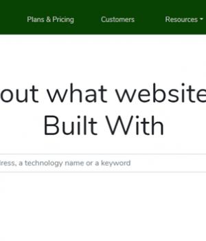 BuiltWith Ekran Görüntüleri - 1
