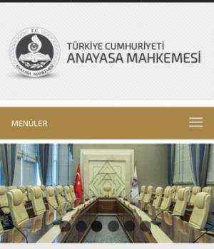 T.C. Anayasa Mahkemesi Ekran Görüntüleri - 1