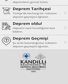 Deprem Bilgi Sistemi Ekran Görüntüleri - 1