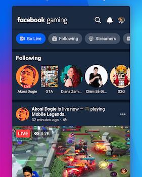 Facebook Gaming Ekran Görüntüleri - 1