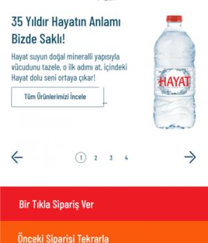 Hayat Su Sipariş Ekran Görüntüleri - 1