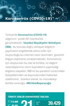 İBB Koronavirüs Ekran Görüntüleri - 2