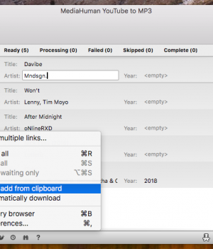 MediaHuman YouTube to MP3 Converter Mac Sürümü Ekran Görüntüleri - 2