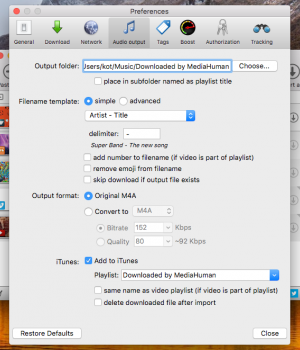 MediaHuman YouTube to MP3 Converter Mac Sürümü Ekran Görüntüleri - 4