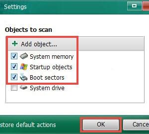 Kaspersky Virus Removal Tool Ekran Görüntüleri - 2