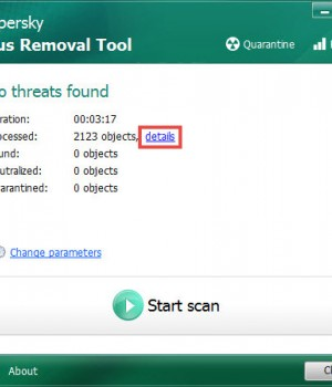 Kaspersky Virus Removal Tool Ekran Görüntüleri - 4