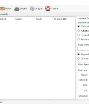 Kütüphane Otomasyonu Ekran Görüntüleri - 1