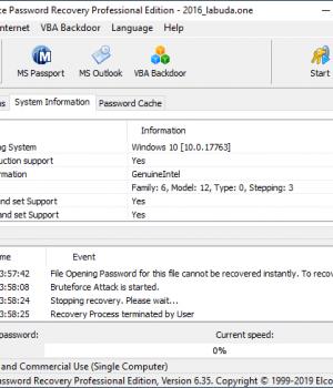 Advanced Office Password Recovery Ekran Görüntüleri - 4
